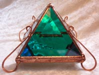 Pyramid Jewelry Box that opens to put anything inside it.
